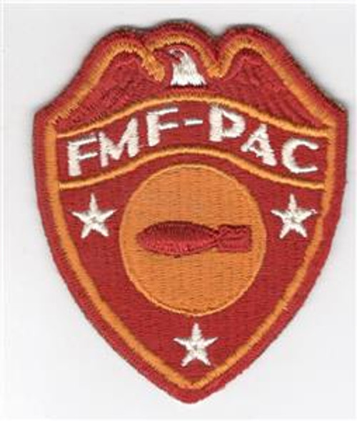Detailed Feathers WW 2 USMC FMF-PAC Bomb Disposal Patch Inv# M976