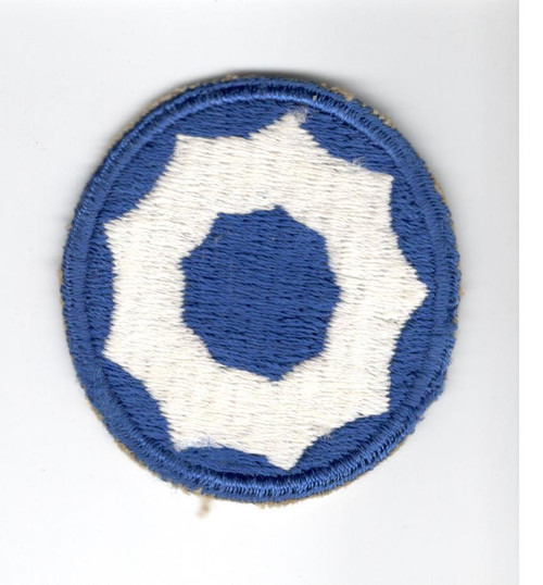 WW 2 US Army 9th Service Command Patch Inv# A587