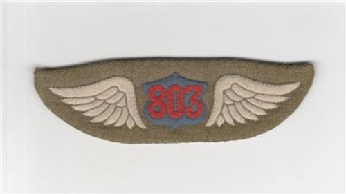 French Made WW 1 US Army 803rd Aero Squadron Patch Inv# Q217