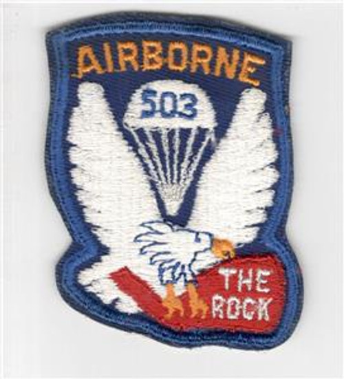 US Army 503rd Parachute Infantry Regiment Twill Inv# P307