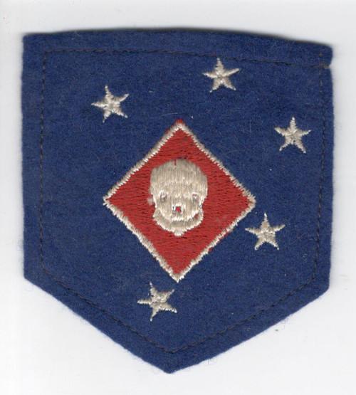 Rare Off Uniform WW 2 USMC 1st MAC Raider Battalion Wool Patch Inv# V995