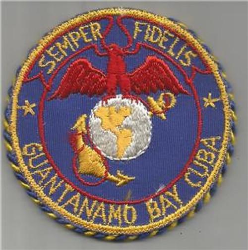 RARE WW 2 USMC BX Mirror Patch & Packaging Guantanamo Bay Cuba Semper Fidelis