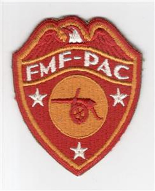 Detailed Feathers !! WW 2 USMC FMF-PAC Artillery Patch Inv# M657
