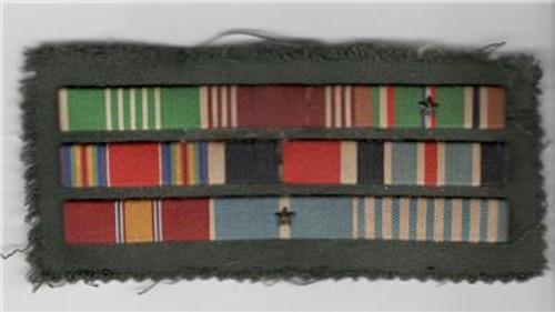 Off Uniform WW 2 / KW US Army Ribbon Bar Inv# M340