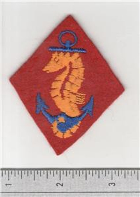 WW 2 USMC United States Marines Ship Detachments Wool Patch Inv# S672