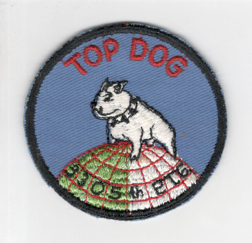 50's USAF Cut Edge No Glow 3305th Pilot Training Group Top Dog Patch Inv# P212