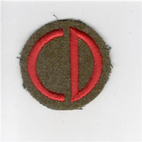 "2"" Pre WW 2 US Army 85th Infantry Division Wool Cap Patch Inv# G022"