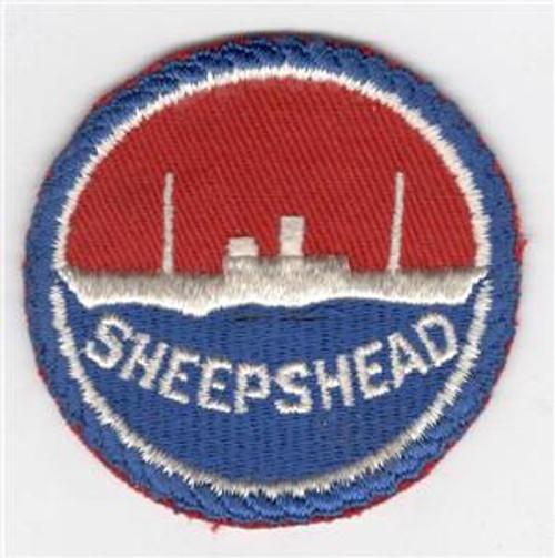 "WW 2 US Navy Sheepshead Bay 2-5/8"" Patch Inv# J428"