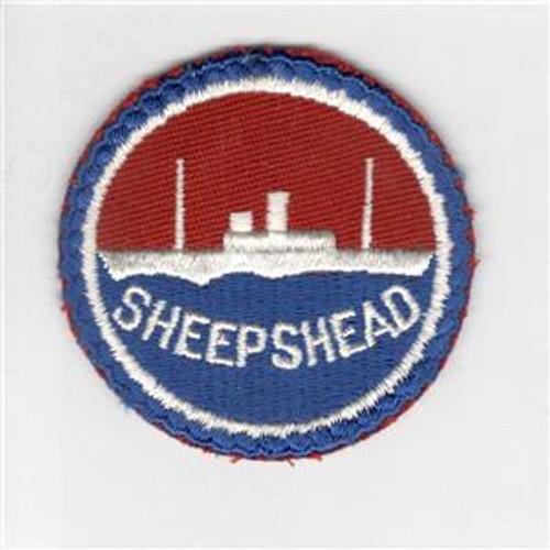 "WW 2 US Navy Sheepshead Bay 3"" Patch Inv# J429"