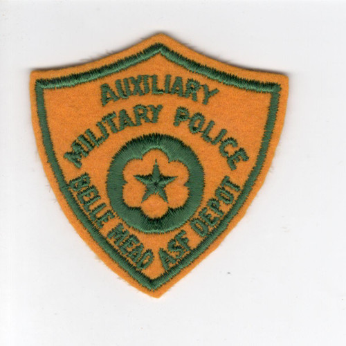 WW 2 Auxiliary Military Police Belle Mead ASF Depot Wool Patch Inv# V979