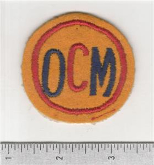 Non Combatant US Office Of Civilian Mobilization Patch Inv# B841