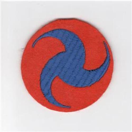 Dark Orange WW 2 US Army Air Force General Headquarters Wool Patch Inv# C894