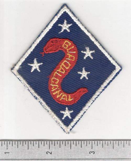 VHTF WW2 USMC 2nd Marine Division Twill Patch Inv# B486