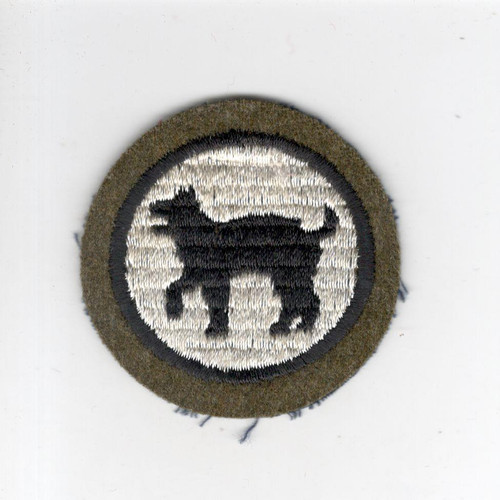 "2"" Pre WW 2 US Army 81st Infantry Division Wool Cap Patch Inv# G019"