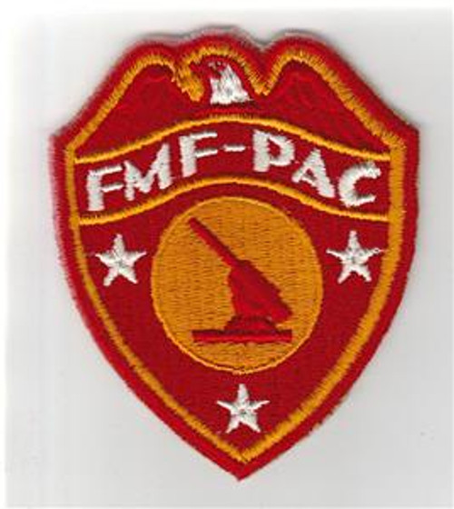 Detailed Feathers WW 2 USMC FMF-PAC Anti-Aircraft Patch Inv# S667