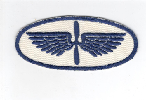 "4-1/2"" WW 2 Civilian Pilot Training Wings Patch Inv# D348"