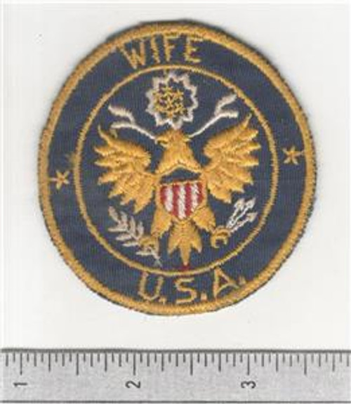 WW 2 United States Army Wife Mirror Patch Inv# B846