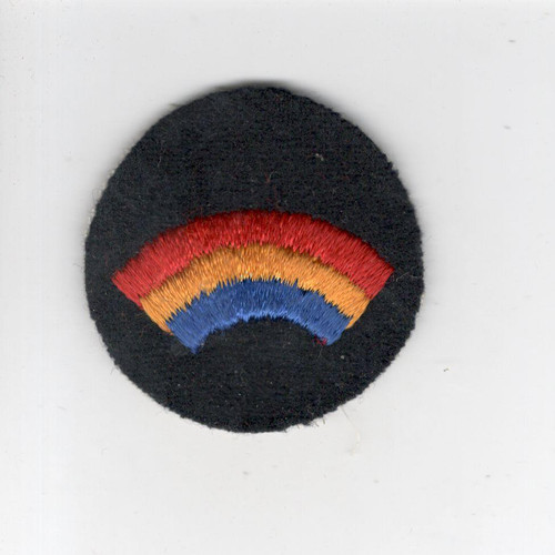 "2"" Pre WW 2 US Army 42nd Infantry Division Wool Cap Patch Inv# G015"