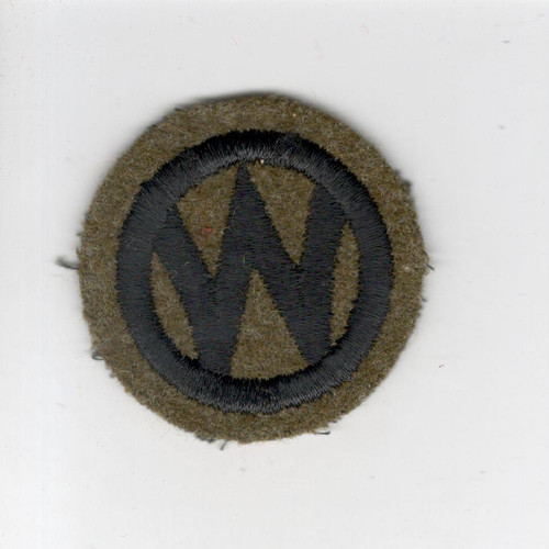 "2"" Pre WW 2 US Army 89th Infantry Division Wool Cap Patch Inv# G023"