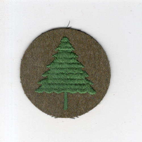 "2"" Pre WW 2 US Army 91st Infantry Division Wool Cap Patch Inv# G024"