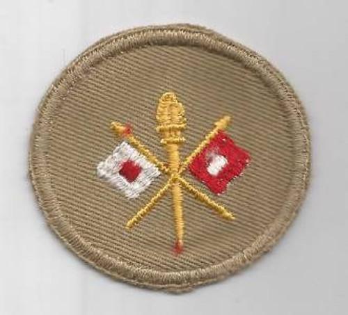 WW 2 US Army Signal Cap Patch Inv # M252