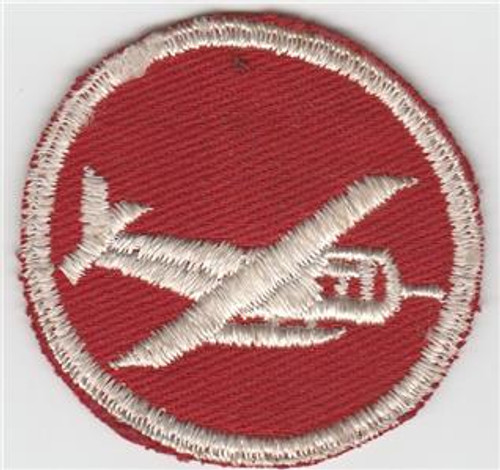 WW 2 Officers Glider Artillery / Engineer Officers Overseas Cap Patch Inv# M248