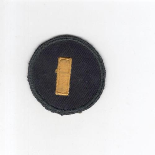 WW 2 US Army 2nd Lieutenant Cap Patch Inv# G074