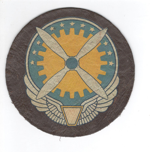 """5"""" HTF 4 Prop WW 2 US Army Air Force Service Command Leather Patch Inv# L117"""