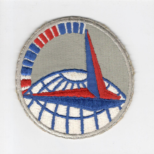 """3-3/4"""" WW 2 Army Air Force Air Transport Command Blue Morse Code Patch Inv# H227"""