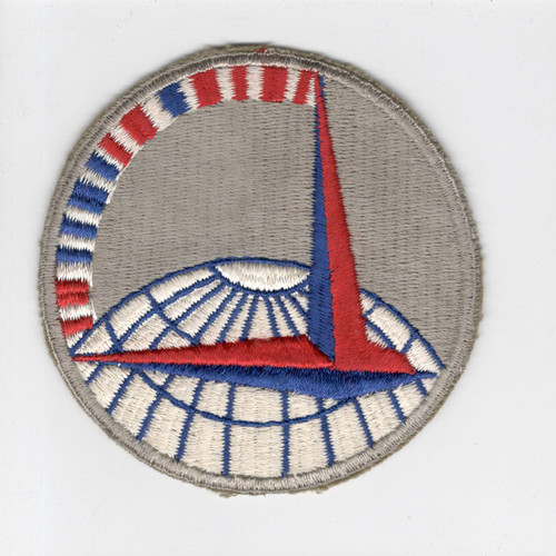 """3-3/4"""" WW 2 Army Air Force Air Transport Command Red Morse Code Patch Inv# H230"""