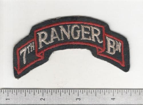 WW 2 US Army 7th Ranger Battalion Patch Inv# B963
