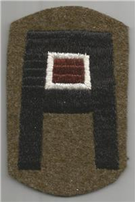 Pre WW 2 US Army 1st Army Medical Black Back Patch Inv# H816