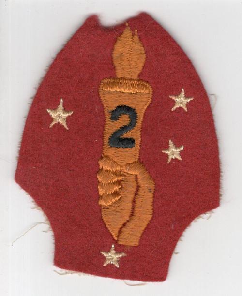 VHTF Black 2 WW 2 USMC 2nd Marine Division Wool Patch Inv# M993