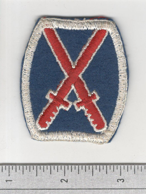 1st Design WW 2 US Army 10th Infantry Division Wool Patch Inv# B063