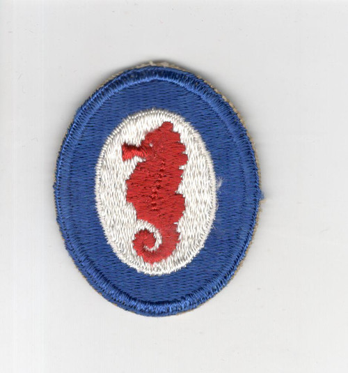 WW 2 US Army Engineer Special Brigade Wide Blue Border Patch Inv# M893