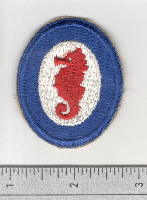 WW 2 US Army Engineer Special Brigade Wide Blue Border Patch Inv# S673