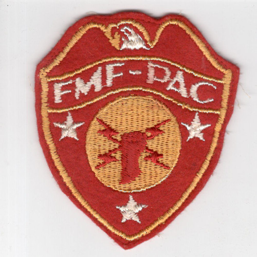 WW 2 USMC FMF-PAC Headquarters Wool Patch Inv# H962