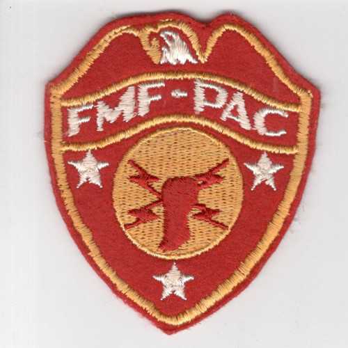 WW 2 USMC FMF-PAC Headquarters Wool Patch Inv# H961