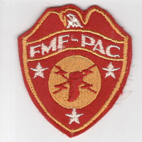 WW 2 USMC FMF-PAC Headquarters Wool Patch Inv# H965