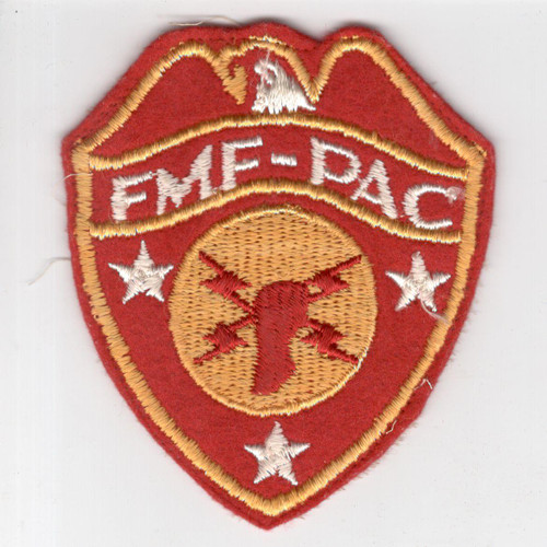 WW 2 USMC FMF-PAC Headquarters Wool Patch Inv# H960