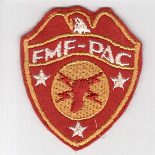 WW 2 USMC FMF-PAC Headquarters Wool Patch Inv# H964