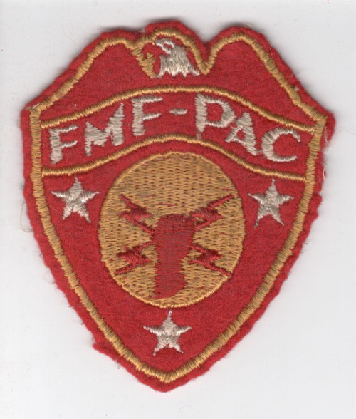 WW 2 USMC FMF-PAC Headquarters Wool Patch Inv# Z330