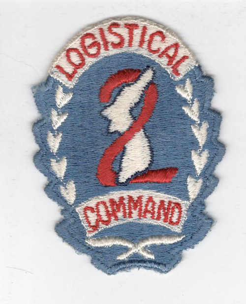 WW 2 1st Design US Army 2nd Logistical Command Patch Inv# X331