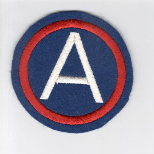 """4"""" WW 2 US Army 3rd Army Wool Patch Inv# F519"""