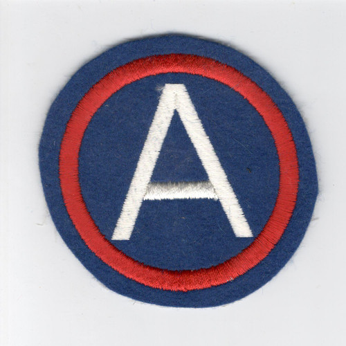 "4"" WW 2 US Army 3rd Army Wool Patch Inv# D486"