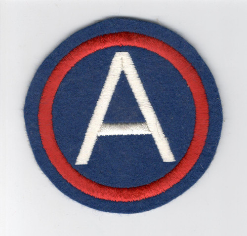 "4"" WW 2 US Army 3rd Army Wool Patch Inv# D487"