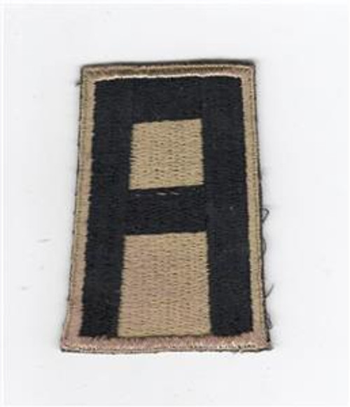 RARE British Made Gold & Black WW 2 US Army 1st Army Patch Inv# D414