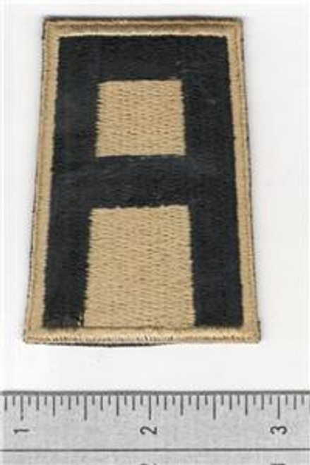RARE British Made Gold & Black WW 2 US Army 1st Army Patch Inv# M043
