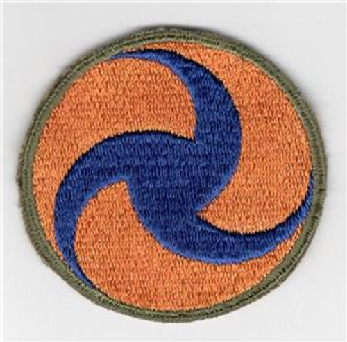 WW 2 US Army Air Force General Headquarters OD Border Greenback Patch Inv# H698