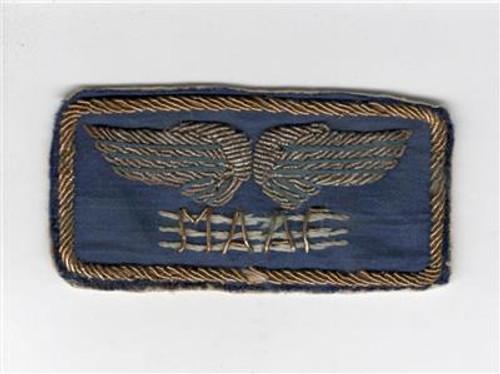Italian Made Bullion on Silk WW 2 Mediterranean Allied Air Force Patch Inv# Z732